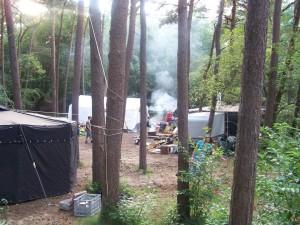 Lager im Aufbau