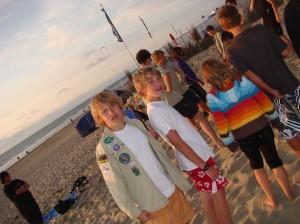 Bergfest am Strand